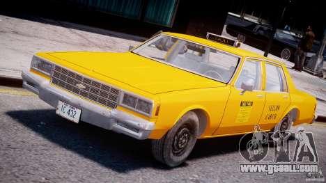 Chevrolet Impala Taxi 1983 [Final] for GTA 4
