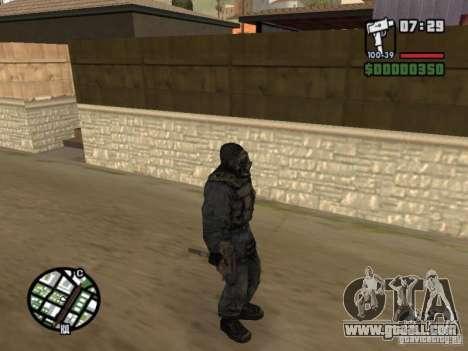 Stalker mercenary in mask for GTA San Andreas forth screenshot