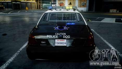 Ford Crown Victoria SFPD K9 Unit [ELS] for GTA 4 engine