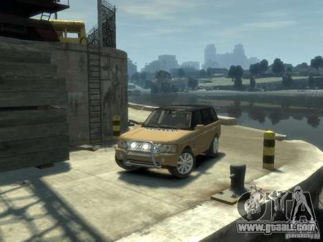 Range Rover Supercharged 2008 for GTA 4 back view
