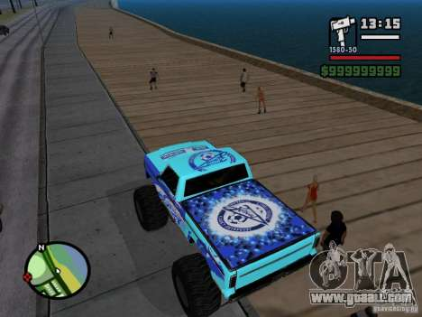 A Monster in the style of FC ZENIT for GTA San Andreas back left view