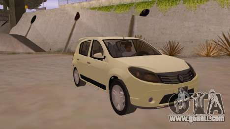 Renault Sandero for GTA San Andreas back view