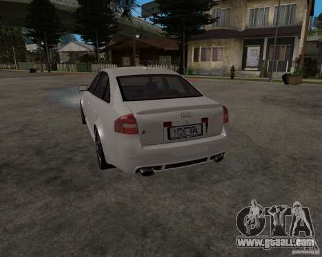 Audi RS6 (A6) for GTA San Andreas back left view