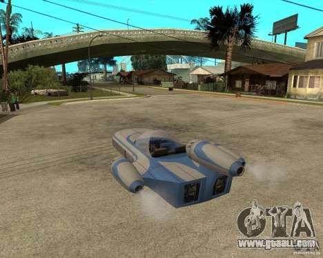 X34 Landspeeder for GTA San Andreas left view