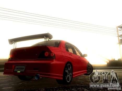 Mitsubishi Lancer Evolution VIII Full Tunable for GTA San Andreas upper view