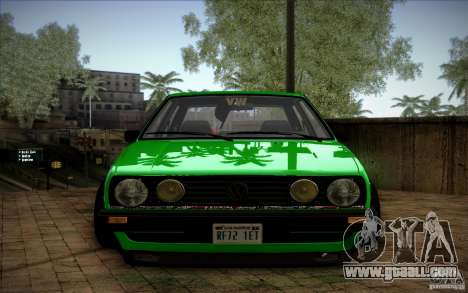 VW Golf MK2 Stanced for GTA San Andreas back view