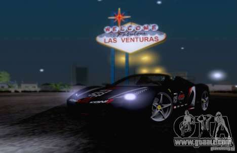 Ferrari F458 for GTA San Andreas upper view
