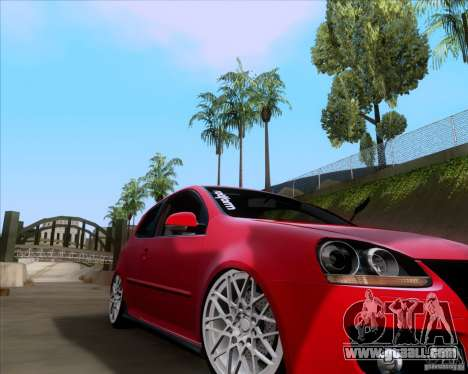 Volkswagen Golf MK5 GTI Stance for GTA San Andreas left view