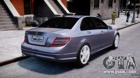 Mercedes-Benz C180 CGi Classic Special 2009 for GTA 4 side view