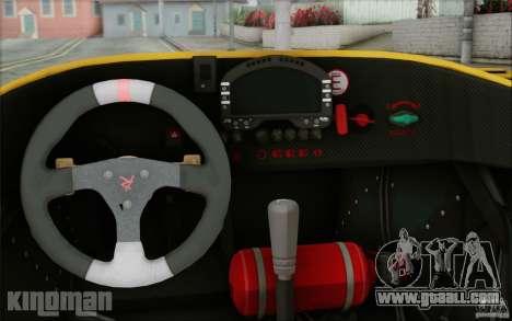 Radical SR3 RS 2009 for GTA San Andreas inner view