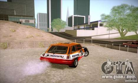 Renault 5 GT Turbo Rally for GTA San Andreas back left view