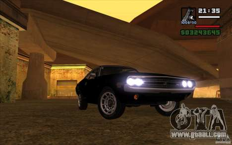 Dodge Challenger 1971 for GTA San Andreas back view