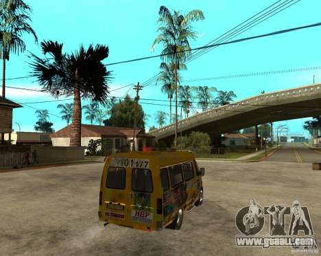 Gaz Gazelle 2705 Minibus for GTA San Andreas back left view