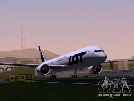 Boeing 787-9 LOT Polish Airlines for GTA San Andreas back view