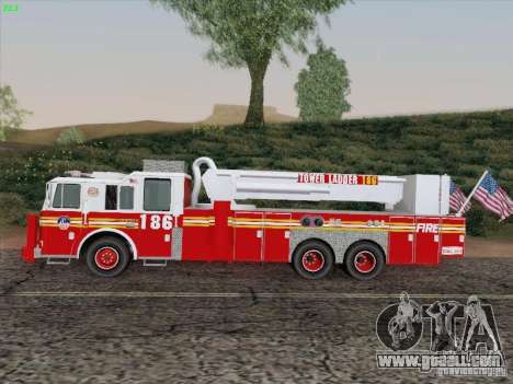 Seagrave Marauder. F.D.N.Y. Tower Ladder 186 for GTA San Andreas right view