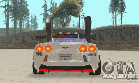 Chevrolet Corvette C6 Police Sergeant Cross NFS for GTA San Andreas inner view