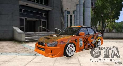 Subaru Impreza WRX STi GDB Team Orange for GTA 4
