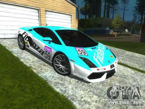 Lamborghini Gallardo LP560-4 for GTA San Andreas inner view
