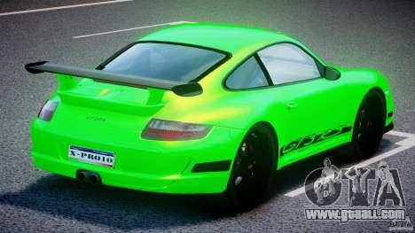 Porsche 997 GT3 RS for GTA 4 upper view