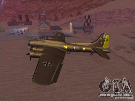 B-17G Flying Fortress for GTA San Andreas back left view