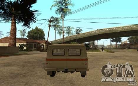 UAZ 450v for GTA San Andreas back left view