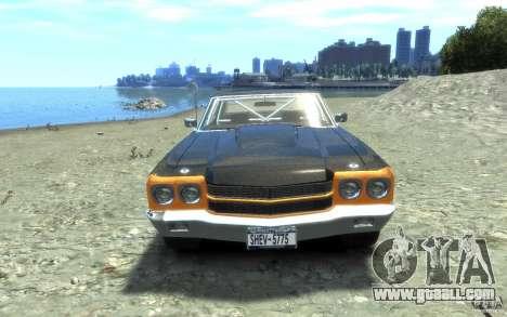 Chevrolet Chevelle SS 1970 for GTA 4 inner view