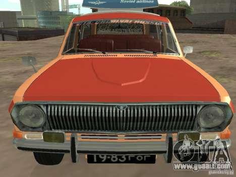 GAZ-24 Volga AEROFLOT 02 for GTA San Andreas back view