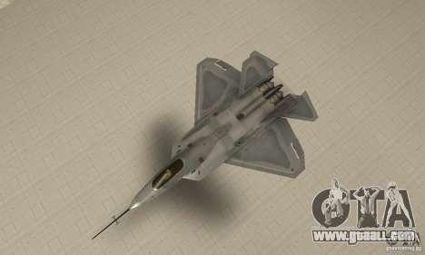 YF-22 Grey for GTA San Andreas right view