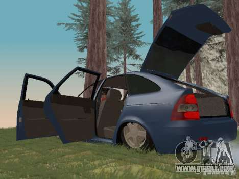 LADA 2170 Hatchback for GTA San Andreas inner view