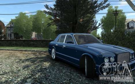 Bentley Arnage T for GTA 4 right view