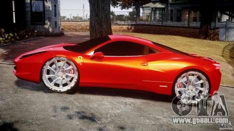 Ferrari 458 Italia Dub Edition for GTA 4 inner view