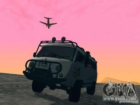UAZ 2206 for GTA San Andreas wheels