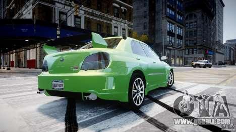Subaru Impreza STI Wide Body for GTA 4 upper view