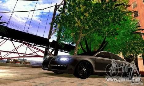 Audi A6 Blackstar for GTA San Andreas interior