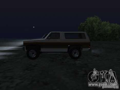 Rancher from GTA 4 for GTA San Andreas left view