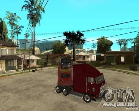 Semi-trailer Truck for GTA San Andreas bottom view