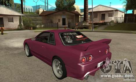 Nissan R32 JDM for GTA San Andreas back left view