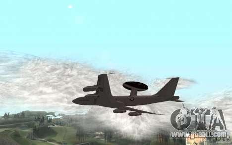 Boeing E-3 Sentry for GTA San Andreas back left view