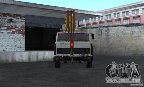 MAZ Truck Crane for GTA San Andreas right view