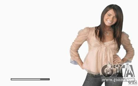 Boot screens Megan Fox for GTA San Andreas sixth screenshot