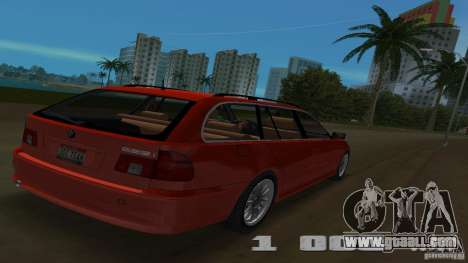 BMW 5S Touring E39 for GTA Vice City back view