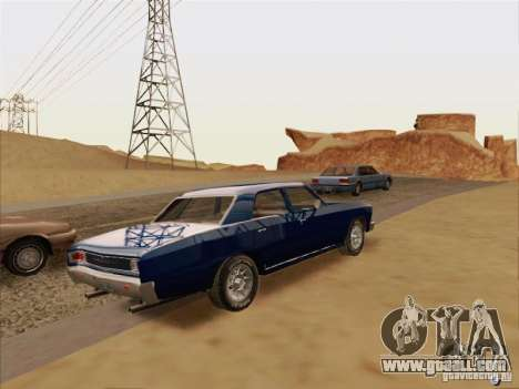 Chevrolet Chevelle for GTA San Andreas back view