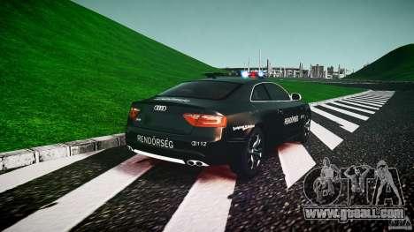Audi S5 Hungarian Police Car black body for GTA 4 back left view