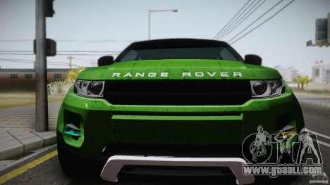 Land Rover Range Rover Evoque v1.0 2012 for GTA San Andreas right view