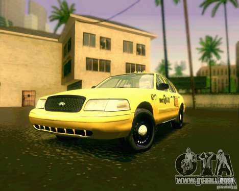 Ford Crown Victoria 2003 NYC TAXI for GTA San Andreas left view