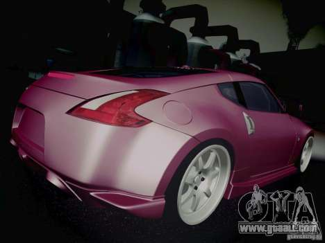 Nissan 370Z Fatlace for GTA San Andreas upper view