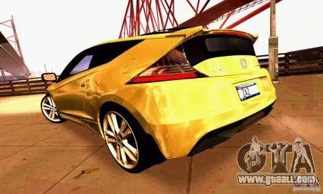 Honda CR-Z 2010 V2.0 for GTA San Andreas interior