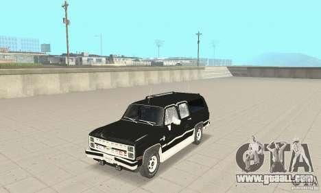 Chevrolet Suburban FBI 1986 for GTA San Andreas side view