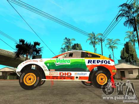 Mitsubishi Racing Lancer from DIRT 2 for GTA San Andreas left view