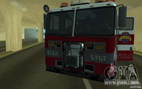 FIRETRUCK for GTA San Andreas back view